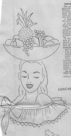 Vintage Crafty Saturdays – FREE Vintage Mexican Luncheon Cloth Embroidery Pattern