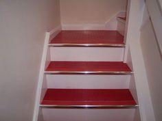 rubber floor with chrome staircase