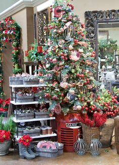 Christmas is approaching quickly! Do you have your tree yet? Visit Pottery World today to receive off artificial Christmas trees! Christmas Time Is Here, Christmas Tree Farm, Christmas Store, Noel Christmas, Country Christmas, Christmas Wishes, Coastal Christmas, Christmas Shop Displays, Craft Fair Displays