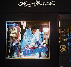 """AGENT PROVOCATEUR, New York, """"Hit My Slopes"""", pinned by Ton van der Veer"""