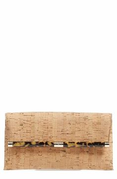 DIANE VON FURSTENBERG '440' Cork Envelope Clutch. #dianevonfurstenberg #bags #leather #clutch #lining #hand bags