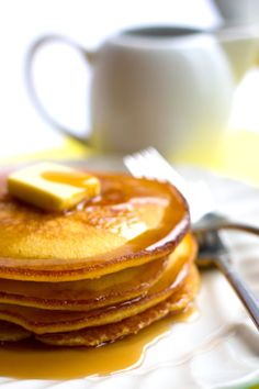 This easy recipe for Cornbread Breakfast Pancakes makes crisp, fluffy pancakes from scratch that come out perfect every time. Breakfast Desayunos, Breakfast Dishes, Breakfast Recipes, Mexican Breakfast, Pancake Recipes, Breakfast Sandwiches, Waffle Recipes, Crepes, Waffles