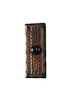 Craftsmen Hardware Field Style X2 Doorbell Button | seattleluxe.com