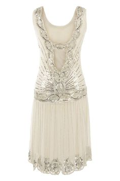 short wedding dress idea Cream Off White Sequin Charleston Flapper UK 10 Gatsby Dress Deco Dress 20s Fashion, Art Deco Fashion, Vintage Fashion, Pretty Outfits, Pretty Dresses, Beautiful Outfits, Gatsby Dress, 1920s Dress, Gatsby Style