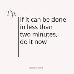 """Luxury elegant stationery 🤍 on Instagram: """"Tip of the week: live for the two-minute rule ✌🏻⠀⠀⠀⠀⠀⠀⠀⠀⠀ ~⠀⠀⠀⠀⠀⠀⠀⠀⠀ #shopseriene"""" Shops, Lifestyle Shop, Two By Two, Stationery, Math Equations, Luxury, Quotes, Elegant, Shopping"""