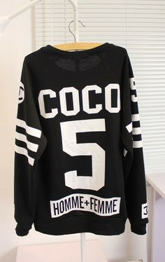 SWEATER: http://www.glamzelle.com/products/chanelesque-coco-n-5-homme-femme-jersey-sweater
