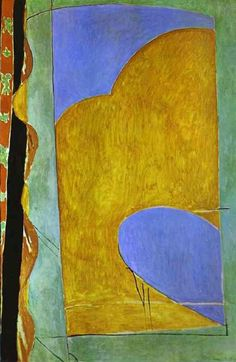 Composition: The Yellow Curtain, 1914 by Henri Matisse
