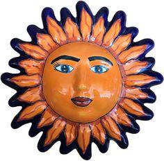 Sun Flowers, Ceramic Painting, One Design, Photo Galleries, Mexican, Hand Painted, Ceramics, Medium, Antiques