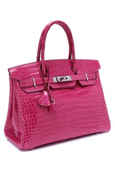 """I. Die.  """"Shiny Fuschia Porosus Crocodile Hermes Birkin by Heritage Auctions Special Collections for Preorder on Moda Operandi"""""""