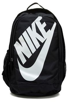 Nike Hayward Futura M (Black/Black/White) Backpack Bags Rucksack Bag, Backpack Bags, Fashion Backpack, Laptop Backpack, Nike Tech Fleece, Nike Outfits, College Outfits, Nike School Backpacks, White Backpack