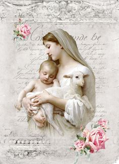 William-Adolphe Bouguereau-Innocence Digital collage for personal use only. Decoupage Vintage, Vintage Ephemera, Vintage Cards, Vintage Paper, Blessed Mother Mary, Blessed Virgin Mary, Catholic Art, Religious Art, Vintage Pictures
