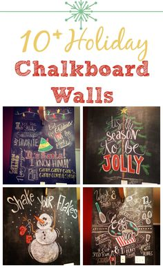 Holiday Walls - I can't believe these were all done in chalk -- amazing!!