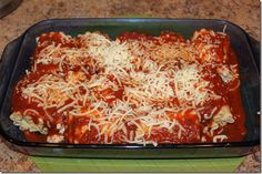 Lasagna Roll Ups... I'm considering this healthy since it's only 230 cals per roll and when coupled with a side salad and 1 slice of garlic toast, pretty filling!