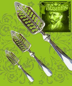 Bra absintsked tillverkad i rostfritt 18/8 stål.