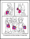 Daisy Girl Scout Coloring Pages to go with each petal and an activity idea to