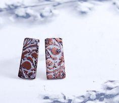 FROST  silver earrings by OYRZANOWSKA on Etsy
