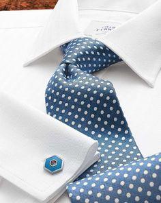 Slim fit Egyptian cotton herringbone white shirt