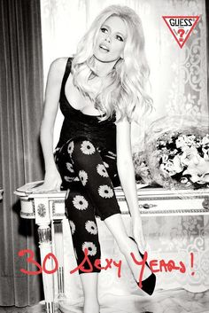 Claudia Schiffer for Guess '30 Sexy Years' Anniversary Campaign