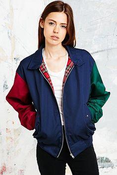 Urban Renewal Vintage Surplus Colourblock Harrington Jacket - Urban Outfitters