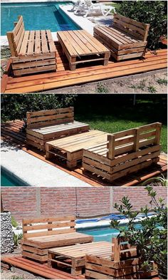 What a purposeful piece of wood pallet outdoor benches and table has been highlighted out in this image that would make you feel so awesome. It look neat and tidy for outsiders. You will view the broad shaping of the table right into it that is somehow so creative and innovative looking.