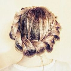 Loose twisted wrap around braided hairstyle