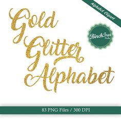 Gold glitter alphabet clipart set, available for download from my Etsy store.  www.etsy.com/uk/shop/Birchtreestudiostore  #goldalphabet #goldglitter #alphabet #goldfont #alphabetclipart #goldclipart #instantdownload #png #goldletters #goldlettering #glitterfont #cardmaking #webdesign #calligraphy #signwriting #signmaking
