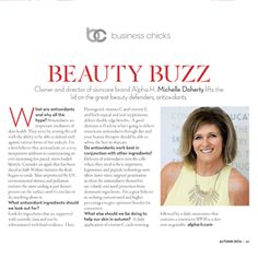 Michelle gives her expert advice on antioxidants in this snippet from Business Chicks LATTE magazine. #antioxidants #businesschicks
