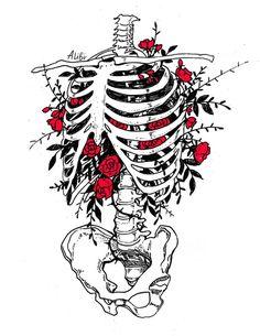 Фотография Skeleton Drawings, Skeleton Art, Lila Tattoo, Anatomy Art, Art Sketchbook, Sketchbook Inspiration, Art Drawings Sketches, Skull Art, Aesthetic Art