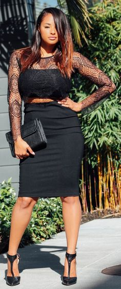 Everything Black Chic Outfit #Fashionistas