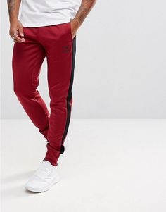 PUMA ARCHIVE T7 JOGGERS IN RED 57331309 - RED. #puma #cloth #