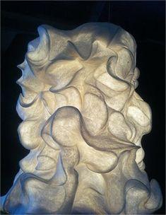 Felted sculpture by Pam de Groot. Hobby Shops Near Me, Felt Decorations, Nuno Felting, Needle Felting, Textiles, Fabric Manipulation, Light And Shadow, Wool Felt, Felted Wool