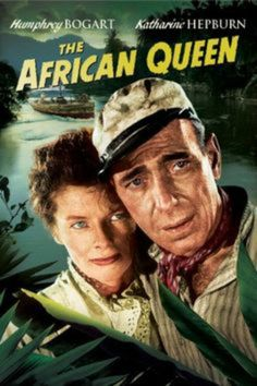 Rent The African Queen starring Humphrey Bogart and Katharine Hepburn on DVD and Blu-ray. Get unlimited DVD Movies & TV Shows delivered to your door with no late fees, ever. One month free trial! Queen Movie, Good Old Movies, Good Movies On Netflix, Movies Online, Top Movies, Katharine Hepburn, Humphrey Bogart, Classic Movie Posters, Movie Posters