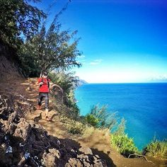 Welcome to #RunnerLand  #Photo: @ronpoons  The Kalalau Trail along the rugged Napali coast of Kauai Hawaii has to be one of the most beautiful trails I have ever experienced. Have to return here someday...