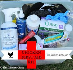 Chicken First Aid Kit & Sick-bay. Be Prepared.