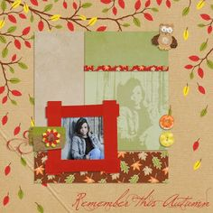 Kit In the forest de Scrap de Yas, photo RAK Caroline, template ChrisW, layout by Toupie
