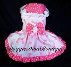 Hey, I found this really awesome Etsy listing at https://www.etsy.com/listing/123710318/pink-poodles-poodle-dog-dress-xs-small