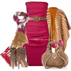 #509 - Fuchsia and taupe, created by elke-koscher on Polyvore