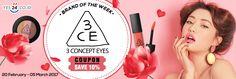 BRAND OF THE WEEK! Beli Produk 3CE Dapatkan Kupon 10%! - PriceArea.com