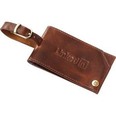 Cutter & Buck Bainbridge Luggage Tag, Genuine Leather | Minimum order 48, $15.10 - $11.98 ea.