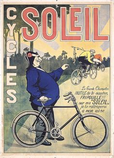 Original 1900s/10s French Bicycle Poster CYCLES SO - by PosterConnection Inc.