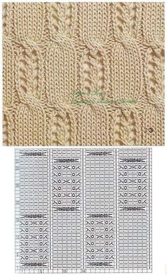 Lace Knitting Stitches, Sweater Knitting Patterns, Knitting Charts, Knitting Designs, Knit Patterns, Stitch Patterns, Crochet Chart, Knit Crochet, Knitted Flowers