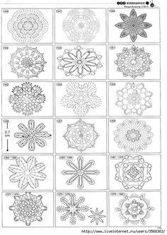 Beautiful and more crochet pattern ~ make handmade - handmade - handicraft Motifs Granny Square, Crochet Square Patterns, Crochet Blocks, Crochet Diagram, Crochet Stitches Patterns, Crochet Chart, Crochet Squares, Thread Crochet, Crochet Doilies