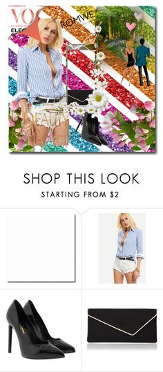 """""""ROMWE"""" by azrahadzic ❤ liked on Polyvore featuring Disney, Yves Saint Laurent and L.K.Bennett"""