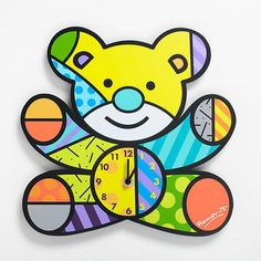 #Romero #britto baby bear wall #clock ** new ** gift box,  View more on the LINK: 	http://www.zeppy.io/product/gb/2/121432658065/