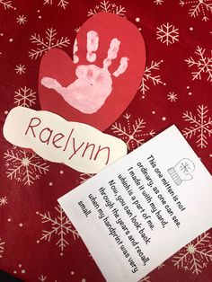 Parents love little handprints. The poem adds a wonderful touch