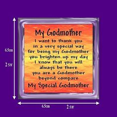 My #godmother verse magnet from #godchild - birthday - christening #-thank you gi,  View more on the LINK: http://www.zeppy.io/product/gb/2/150514245117/