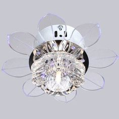 ceiling fan with crystal light | New Modern Crystal LED Ceiling Light Ceiling fans Fixture Lighting ...