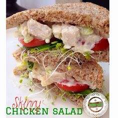 With Peanut Butter on Top: Skinny Chicken Salad Sandwich
