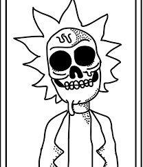 Rick Morty Coloring Pages 03 Products I Love Pinterest Drawings