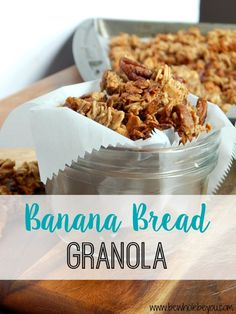 Banana Bread Granola. The healthy and delicious way to snack! Gluten free and vegan!